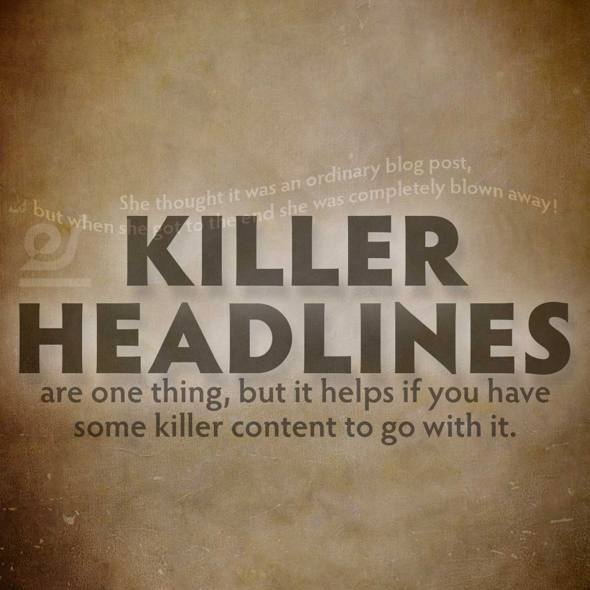 KILLER HEADLINE? She thought it was an ordinary blog post, but when she got to the end she was completely blown away!