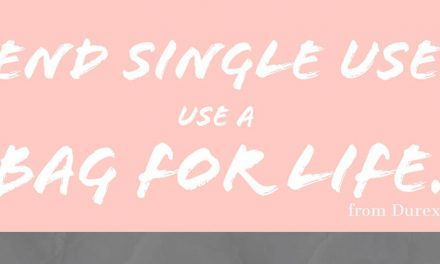 End single use – use a bag for life